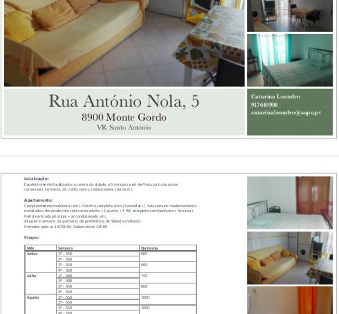 Apartamentos e moradias para alugar, Apartamento Excelente T1 Monte Gordo em Vila Real de Santo António, Portugal Algarve, REF_IMG_10258_10287