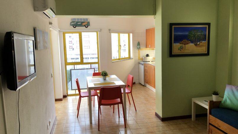 Apartamentos e moradias para alugar, T1 na Praia da Rocha para férias em Portimão, Portugal Algarve, REF_IMG_14431_14435